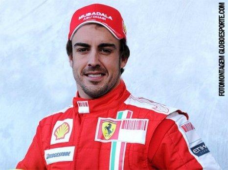 Fotomontagem de Alonso na Ferrari